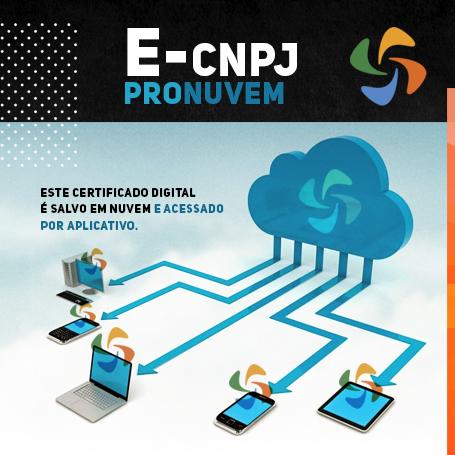 PRONUVEM e-CNPJ A3 (1 ANO)
