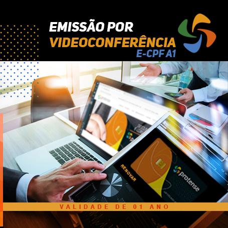 Videoconferência: e-CPF A1 (1 ano)