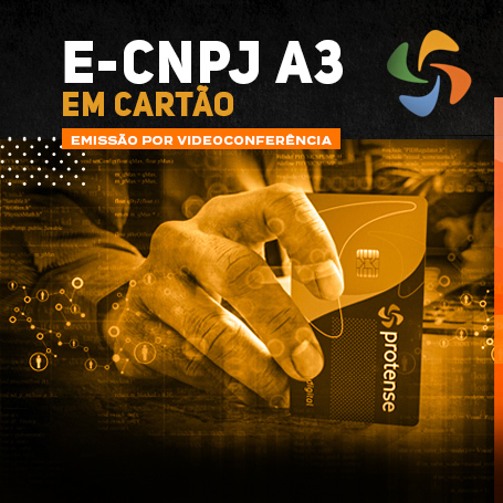 Videoconferência: Cartão e-CNPJ A3 (3 anos)