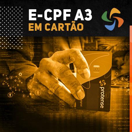 E-CPF A3 EM CARTÃO INTELIGENTE (VALIDADE DE 01 ANO)