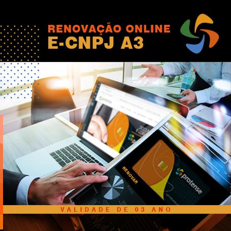e-CNPJ - Renovação online e-CNPJ A3 (3 anos)