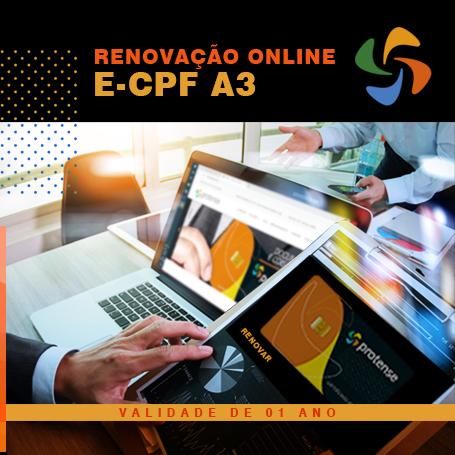 e-CPF - Renovação online e-CPF A3 (1 ano)