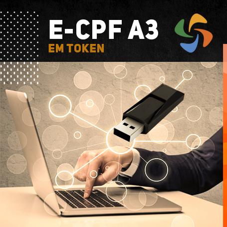 E-CPF A3 EM TOKEN (VALIDADE DE 03 ANOS)