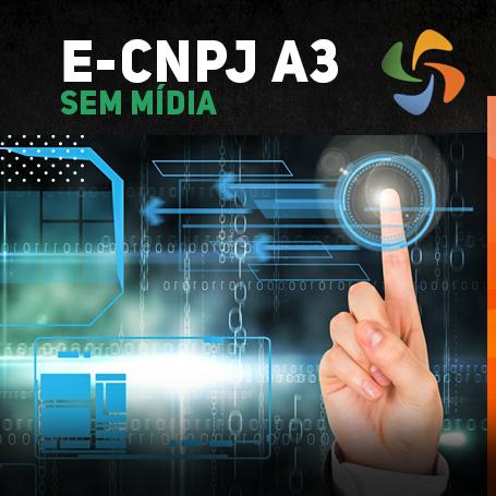 E-CNPJ A3 SEM MÍDIA (VALIDADE DE 03 ANOS)