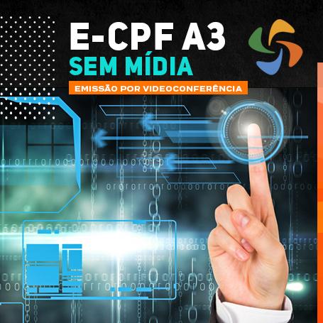 Videoconferência: e-CPF A3 (3 anos)