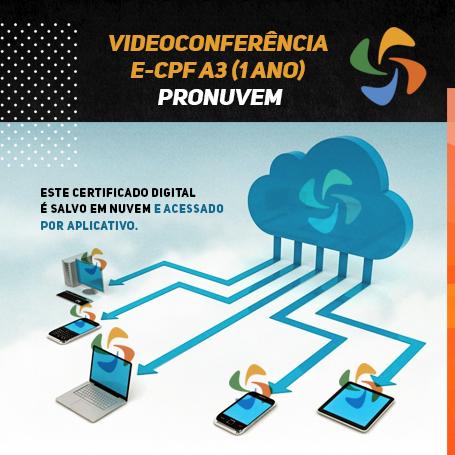 Videoconferência: e-CPF A3 (1 ano)