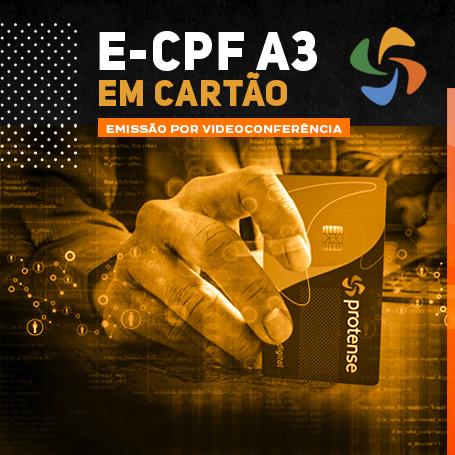 Videoconferência: Cartão e-CPF A3 (2 anos)